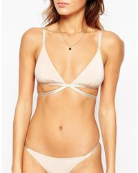 ASOS - Natural Basic Microfibre Mix & Match Strappy Triangle Bra - Lyst