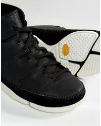 Clarks - Trigenic Hi Trainers - Black for Men - Lyst