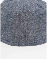 ASOS - Blue Unstructured Cap In Washed Chambray for Men - Lyst
