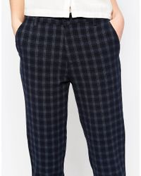 Native Youth - Black Textured Check Cigarette Pant - Lyst