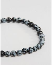 Jack & Jones | Gray Beaded Bracelet In Grey - Grey for Men | Lyst