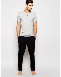 Calvin Klein   Black Lounge Pants In Slim Fit for Men   Lyst