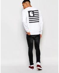 Carhartt WIP - White State Flag Sweatshirt With Back Print - Lyst