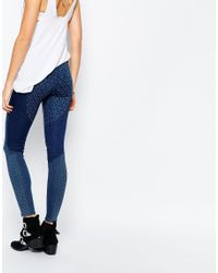 Pepe Jeans - Blue Cutie Delux Printed Patch Skinny Jeggings - Lyst
