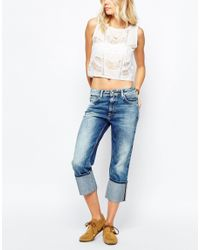 Pepe Jeans | Blue Donna Turn Up Loose Fit Jean | Lyst