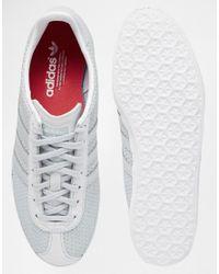 Adidas Originals - White Originals Clear Grey Gazelle Trainers - Lyst