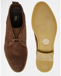 ASOS - Chukka Boots In Brown Suede With Natural Sole for Men - Lyst