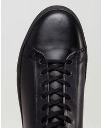 AllSaints - Black Low Top Sneaker for Men - Lyst
