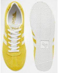 Gola - Harrier Cla192 Yellow Trainers - Lyst