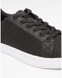 ASOS - Trainers In Black Woven Textile - Lyst