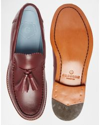 GRENSON - Red Grayson Tassle Loafers for Men - Lyst