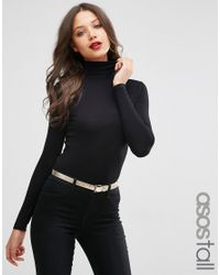 ASOS | Black The Polo Neck With Long Sleeves | Lyst