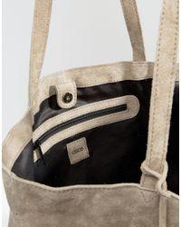 ASOS - Multicolor Suede Shopper Bag With Weave Corners - Lyst