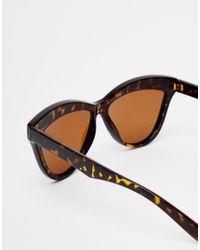 ToyShades - Brown Hooper Tortieshell Cat Eye Sunglasses - Lyst