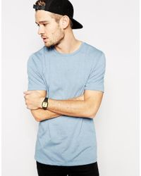 ASOS - T-shirt With Crew Neck And Relaxed Fit In Blue for Men - Lyst