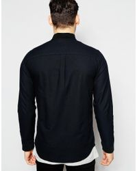 Jack & Jones - Black Bomber Shirt In Slim Fit for Men - Lyst