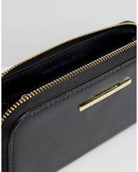 French Connection - Black Zip Around Wallet - Lyst