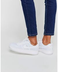 3866d7b47a6 Nike Air Force 1 Low Upstep Breathe Trainers in White - Lyst