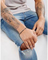Emporio Armani - Chain Bracelet In Black & Silver for Men - Lyst