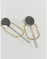 ASOS - Multicolor Oval Shape And Stick Earrings - Lyst