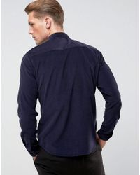 Only & Sons - Black Shirt In Slim Fit Baby Cord for Men - Lyst