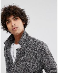 ASOS - Gray Longline Heavyweight Knitted Duster Cardigan In Charcoal for Men - Lyst