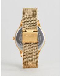 G-Shock Metallic Ltp-e140g-9aef Mesh Watch In Gold for men
