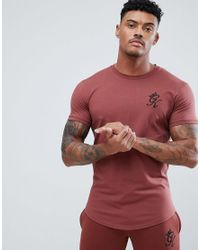 4e82202f Gym King Logo Muscle Fit T-shirt In Rust in Red for Men - Lyst