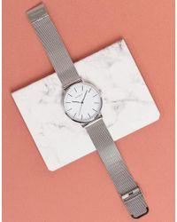 Sekonda - Metallic Silver Mesh Watch With White Dial Exclusive To Asos for Men - Lyst