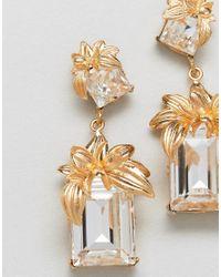 Bill Skinner - Metallic Statement Flower Earrings (+) - Lyst