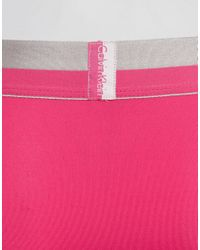 Calvin Klein | Pink Low Rise Trunks Magnetic Microfibre for Men | Lyst