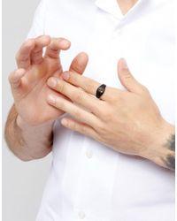 Icon Brand | Cross Signet Ring In Matte Black for Men | Lyst