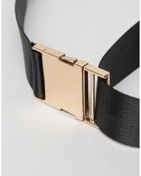 ASOS - Black Seat Belt Buckle Belt - Lyst