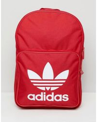0fcb53380c Lyst - adidas Originals Large Trefoil Logo Backpack In Red Dq3157 in ...