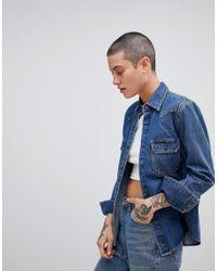 7e9a13d4ed9 Calvin Klein Jeans Western Denim Shirt in Blue - Lyst