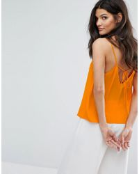 Mango - Orange V Front Cami Top - Lyst