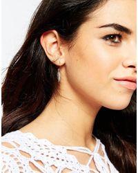 ASOS - Multicolor Mismatch Feather Hoop & Stud Earrings - Lyst
