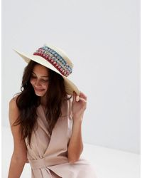 300c3ccb3f9 Liquorish Summer Straw Floppy Hat - Lyst