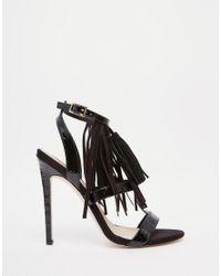 ASOS - Black Hey Girl! Heeled Sandals - Lyst