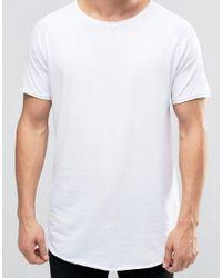 Jack & Jones   Black Super Longline T-shirt With Raw Edge for Men   Lyst