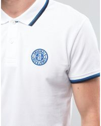 Jack & Jones - White Twin Tipped Embroidered Polo for Men - Lyst