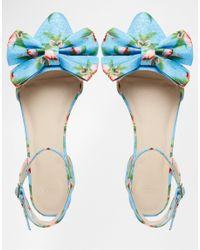 ASOS - Blue Lava Pointed Ballet Flats - Multi - Lyst
