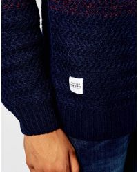Native Youth   Blue Cut And Sew Gradient Knit Jumper for Men   Lyst