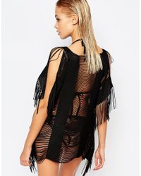 Lipsy - Black Ladder Cover Up - Lyst