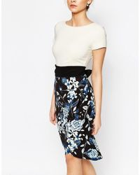 Closet - Multicolor Closet 2 In 1 Pencil Dress With Cap Sleeve - Lyst