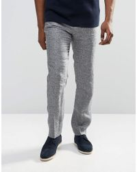 Reiss | Gray Pants With Fleck In Slim Fit for Men | Lyst