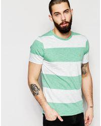 Farah - White T-shirt With Block Stripe Slim Fit for Men - Lyst