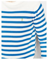 Farah - Blue Jumper With Breton Stripe Regular Fit for Men - Lyst