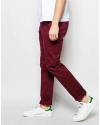 Farah - Purple Chino In Slim Fit Stretch Cotton for Men - Lyst