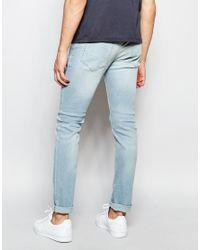 Farah - Blue Skinny Jeans In Stretch for Men - Lyst
